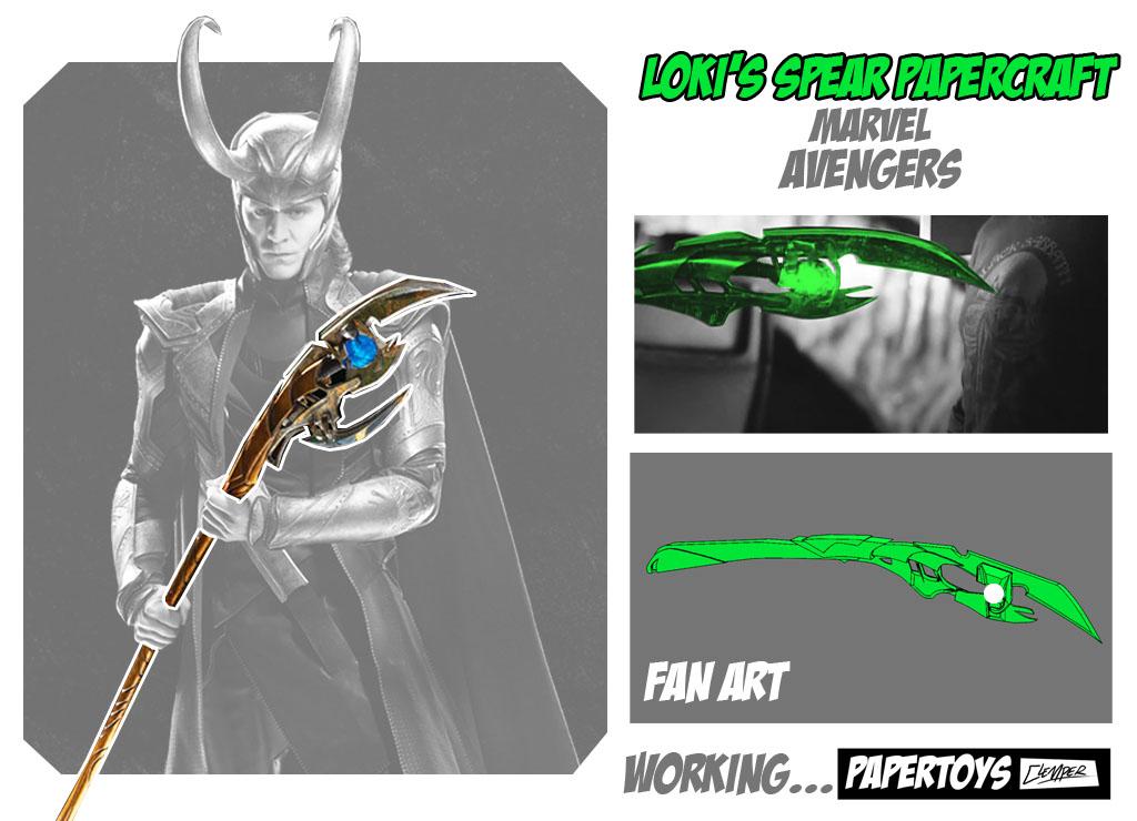 Loki's Sceptre Papercraft