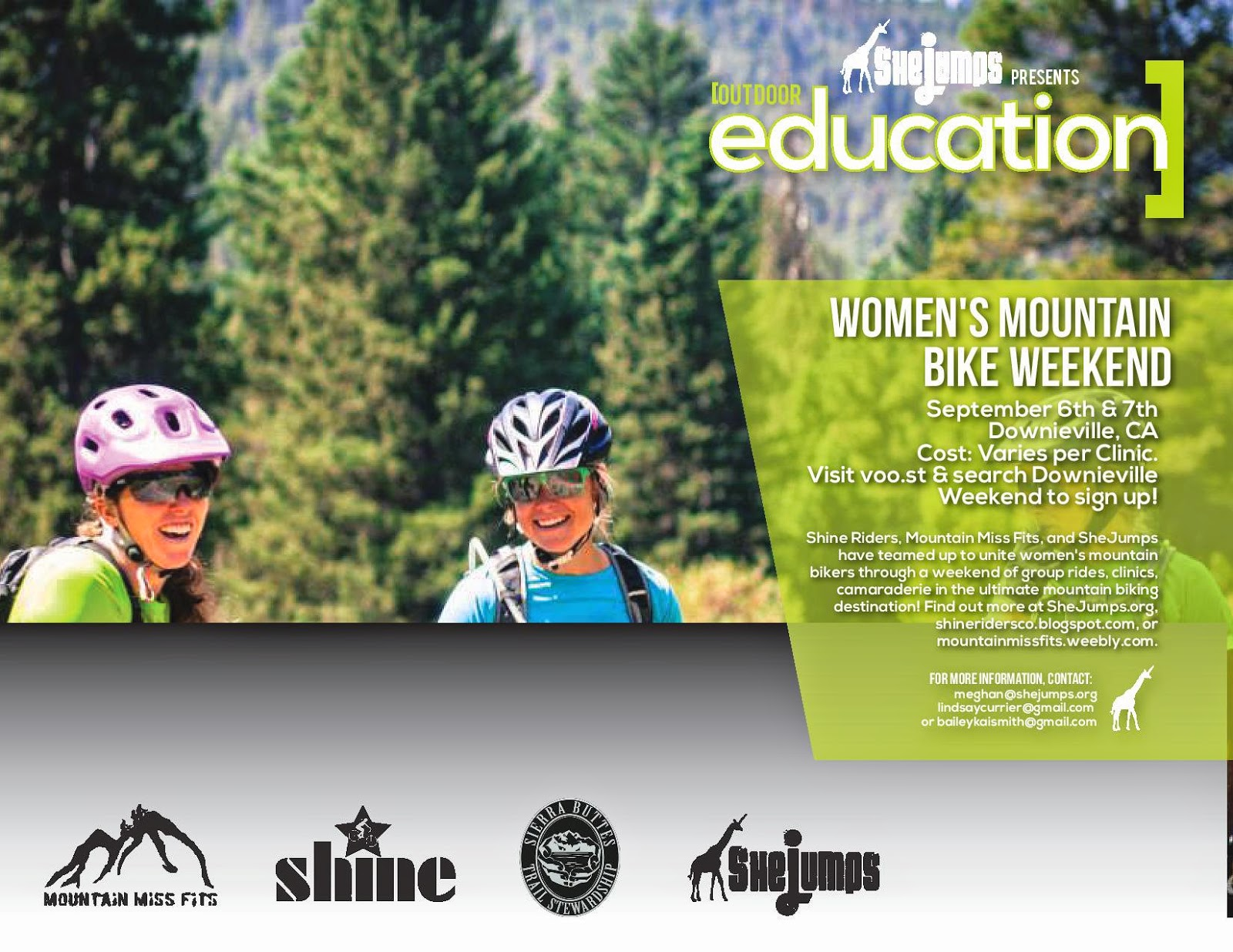 Sept 5 - 7 Women's Gravity Girls Getaway! Downieville, CA