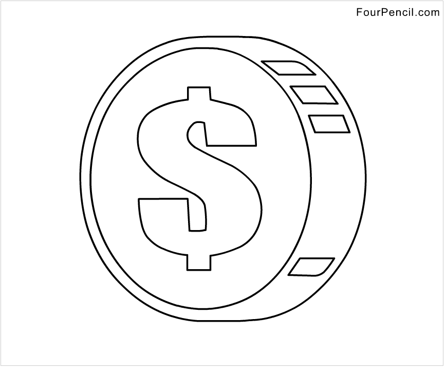 Number 9 Coloring Sheet : Coin coloring page. lost coin coloring pages the parable of