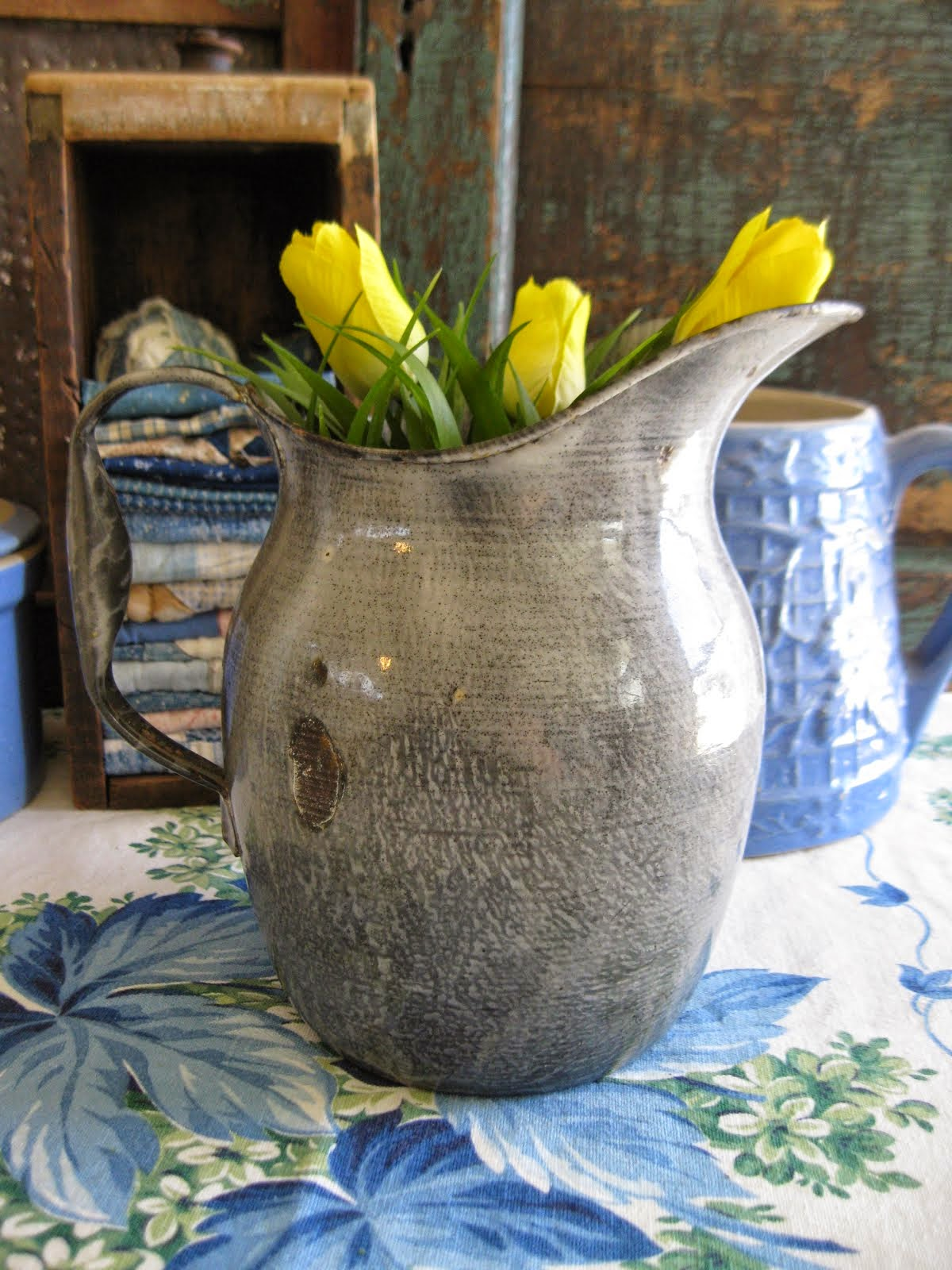graniteware pitcher