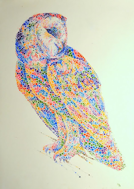 Animal dotted paintings by Ana Enshina