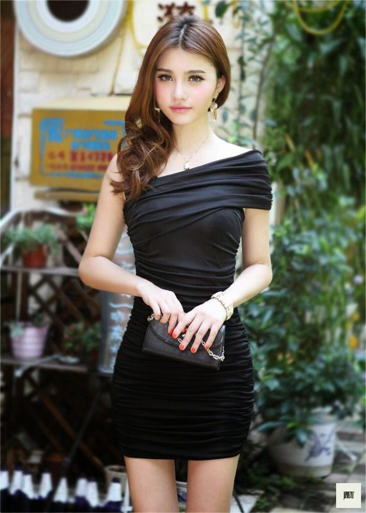 Japon Style Muhteşem Elbise Siyah