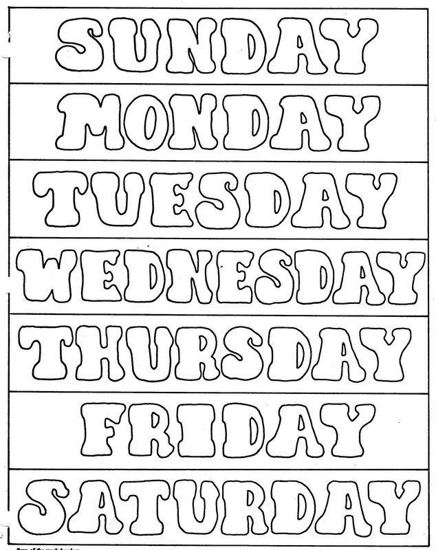 DAYS OF THE WEEK title=