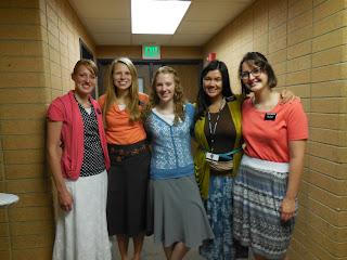 sister abbott, me, sister scott, sister lyon, sister marsden (sisters in my district)