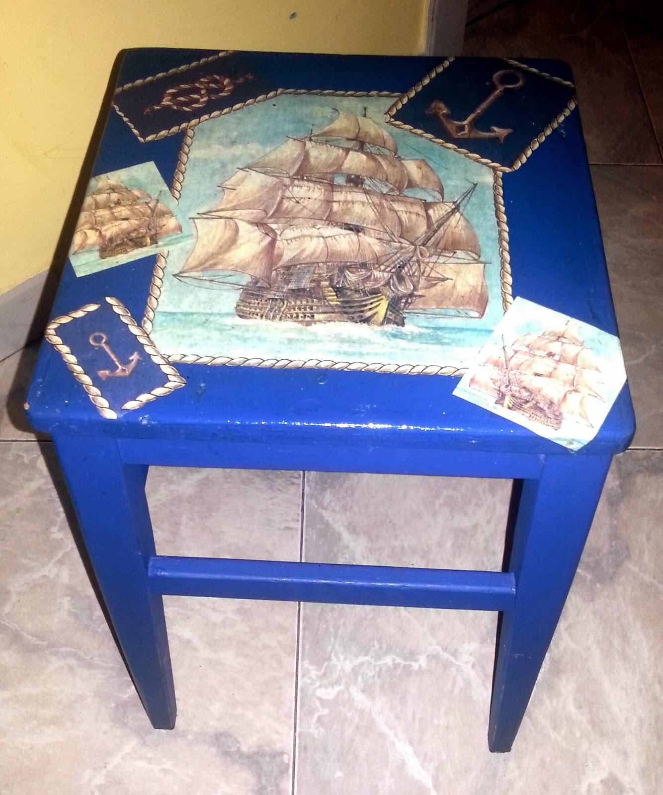 Riciclando con il decoupage mobili ristrutturati e decorati con la tecnica del decoupage - Decoupage su mobili vecchi ...