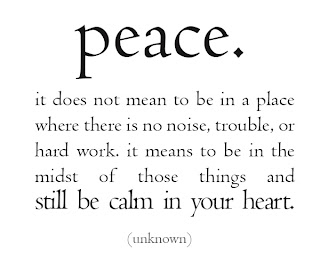 Inner peace, tranquility and joy