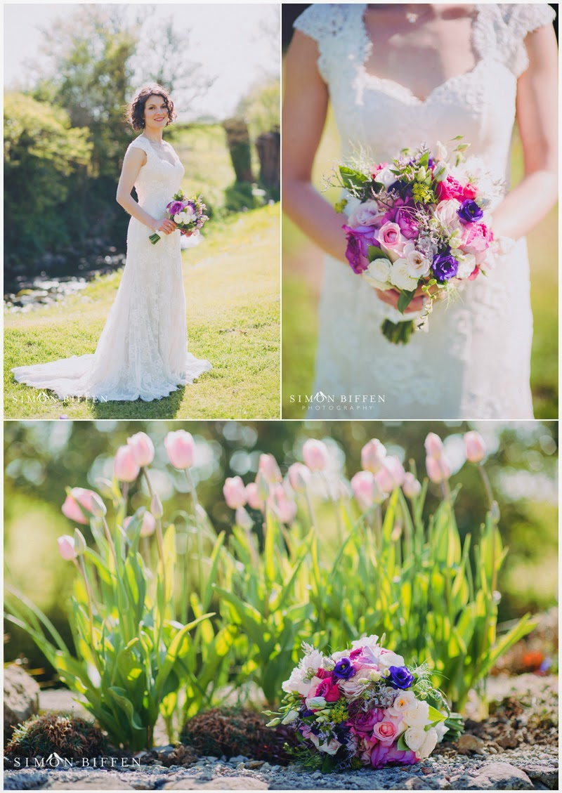 Bridal portrait at Priston Mill wedding
