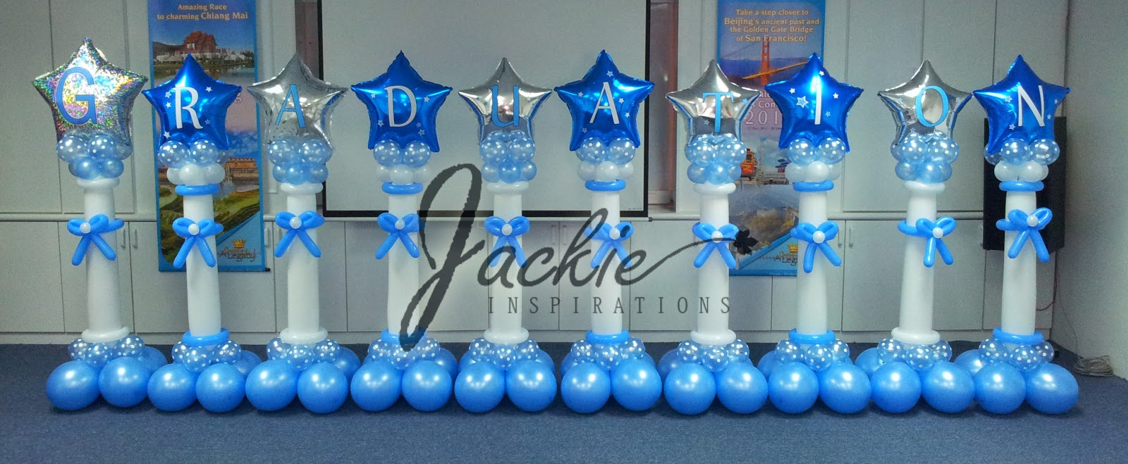 Balloon decorations for weddings birthday parties for Balloon decoration graduation
