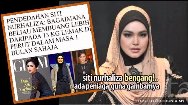 Siti Nurhaliza Bengang Ada Peniaga Gunakan Gambarnya Tanpa Izin !..