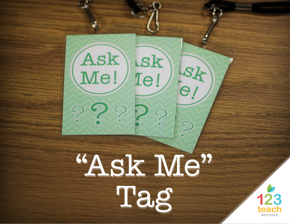 Chevron Ask Me Tags