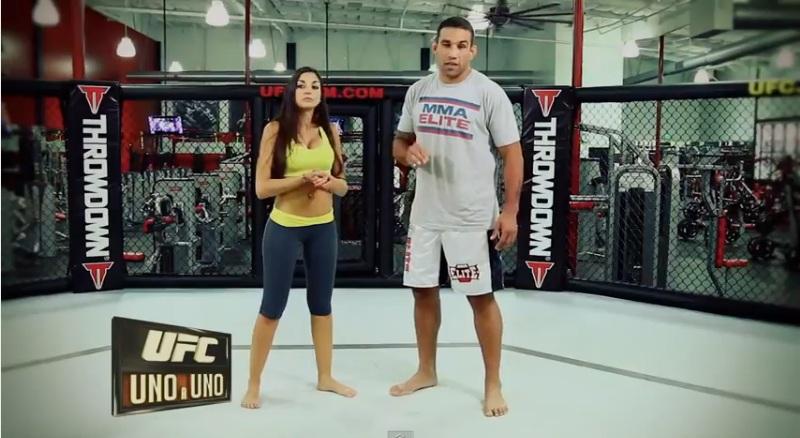 Werdum enseña técnicas de MMA junto a Agostina Fusari (VIDEOS