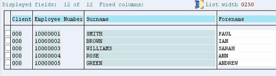 Key Fields in SAP Tables