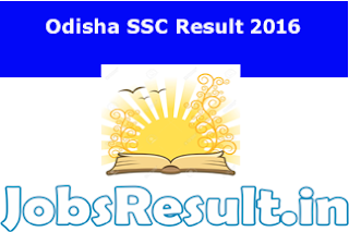 Odisha SSC Result 2016