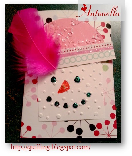 Snow Girl Gift Card Holder Tutorial from Antonella at www.quilling.blogspot.com