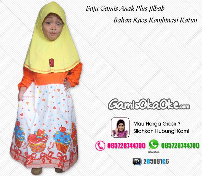 baju muslim model gamis untuk anak perempuan baju gamis produksi konveksi oka oke. Black Bedroom Furniture Sets. Home Design Ideas