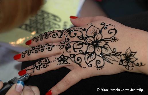 Tattoos black henna tattoos for Black temporary tattoo