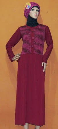 Gamis Rompi Bahan Jersey GKM4643