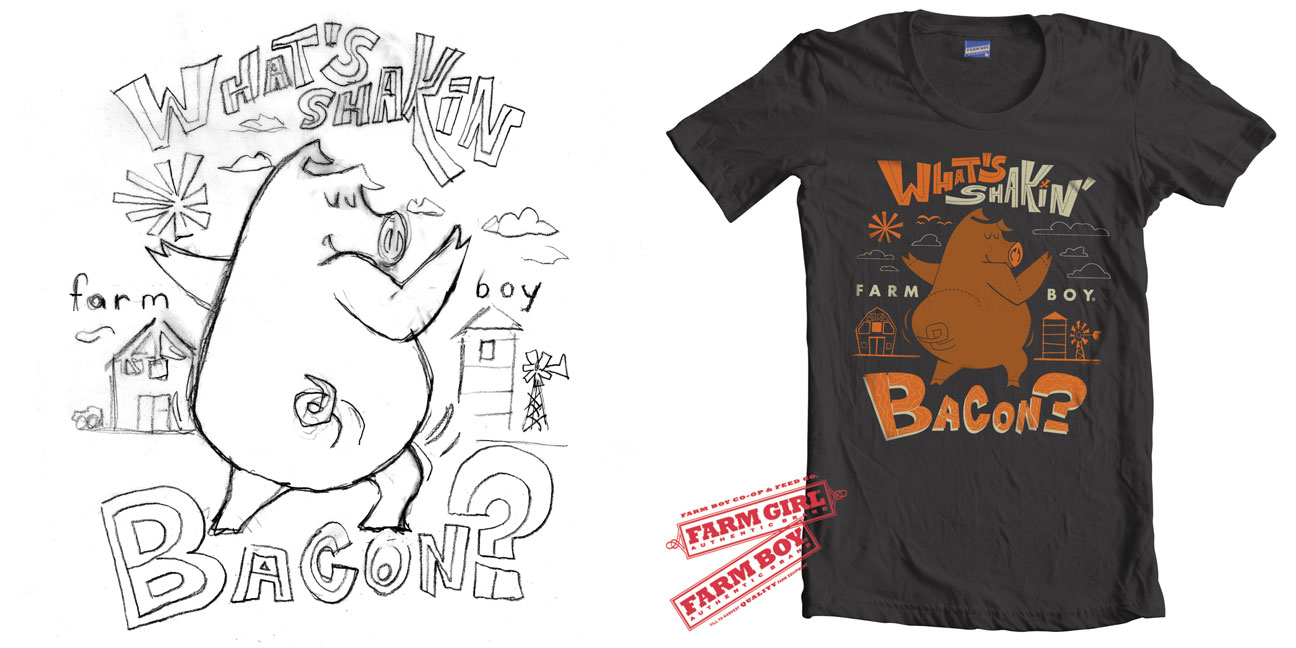 Design t shirt on illustrator - Design T Shirt Using Adobe Illustrator Once The Farm Boy Team Approved Our Sketches We