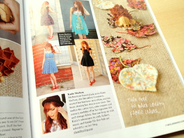 Katie from Skunkboy blog featured in Mollie Makes