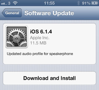 iOS 6.1.4 Update For iPhone 5 Released