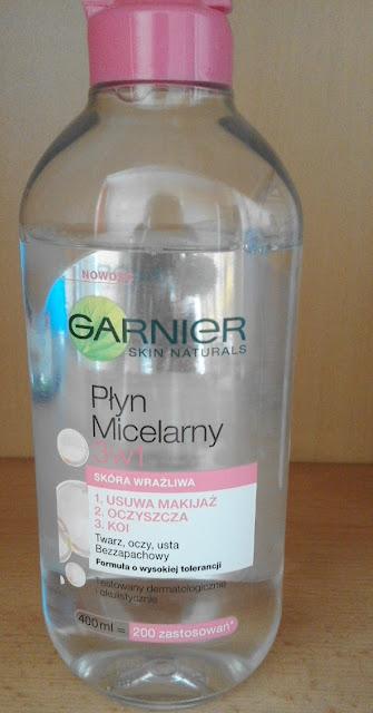 Płyn micelarny Garnier 3 w 1 skóra wrażliwa