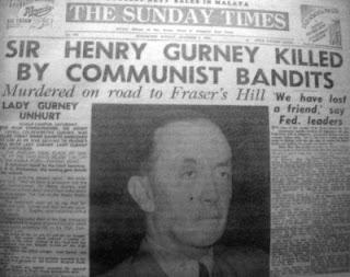 henry gurney dibunuh oleh komunis