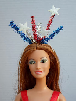 4th of july headband for Barbie