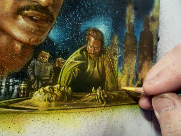 Lando Calrissian Original Art © 2012 Jeff Lafferty