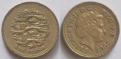 england one pound plantegenet lions