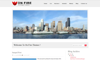 On Fire Blogger Templates