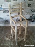 Estructura del taburete alto, enredandonogaraxe