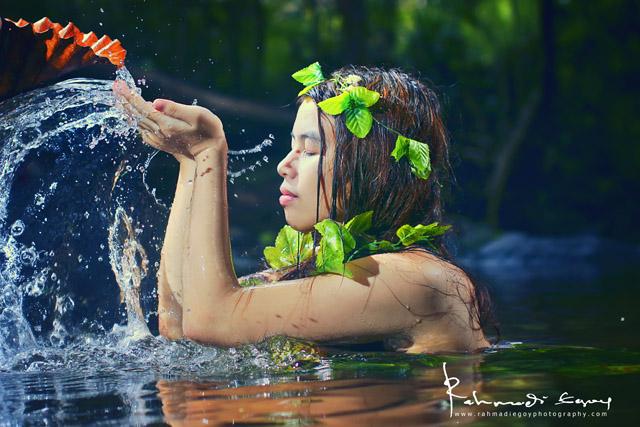 foto model cantik seksi konsep alam liar hutan jungle 4