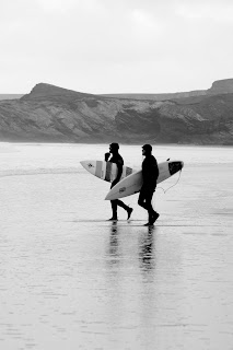 Winter surfing Cornwall