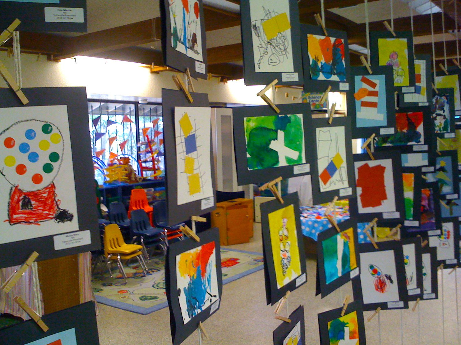 Kids Art Market Art Show At Sutterville Preschool
