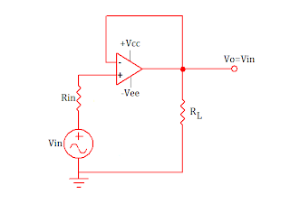dc coupled voltage follower using op amp