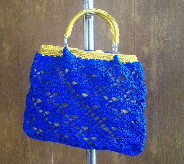 crochet bag with handle