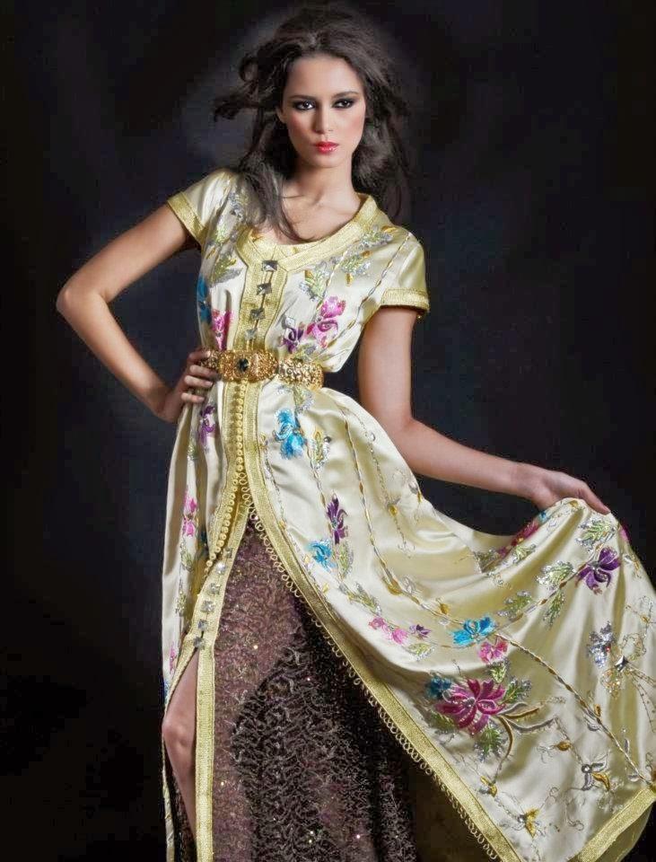 caftan marocain style br'odé