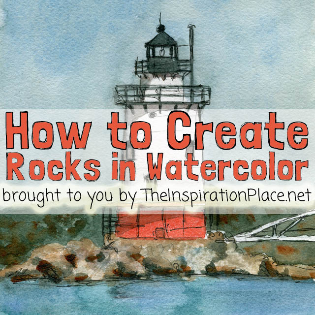 watercolor techniques | how to create rock textures http://schulmanart.blogspot.com/2015/08/watercolor-wednesdays-how-to-create.html