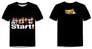 t-shirt, running man