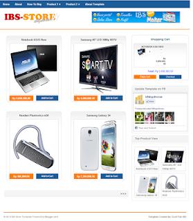 download template toko online