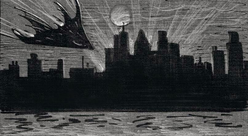 Tim Burton´s Batwing concept art