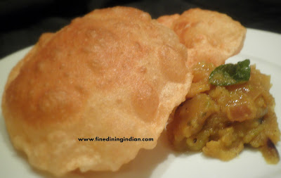 best poori masala image learn from the video recipe poori bhaji fine dining indian.com