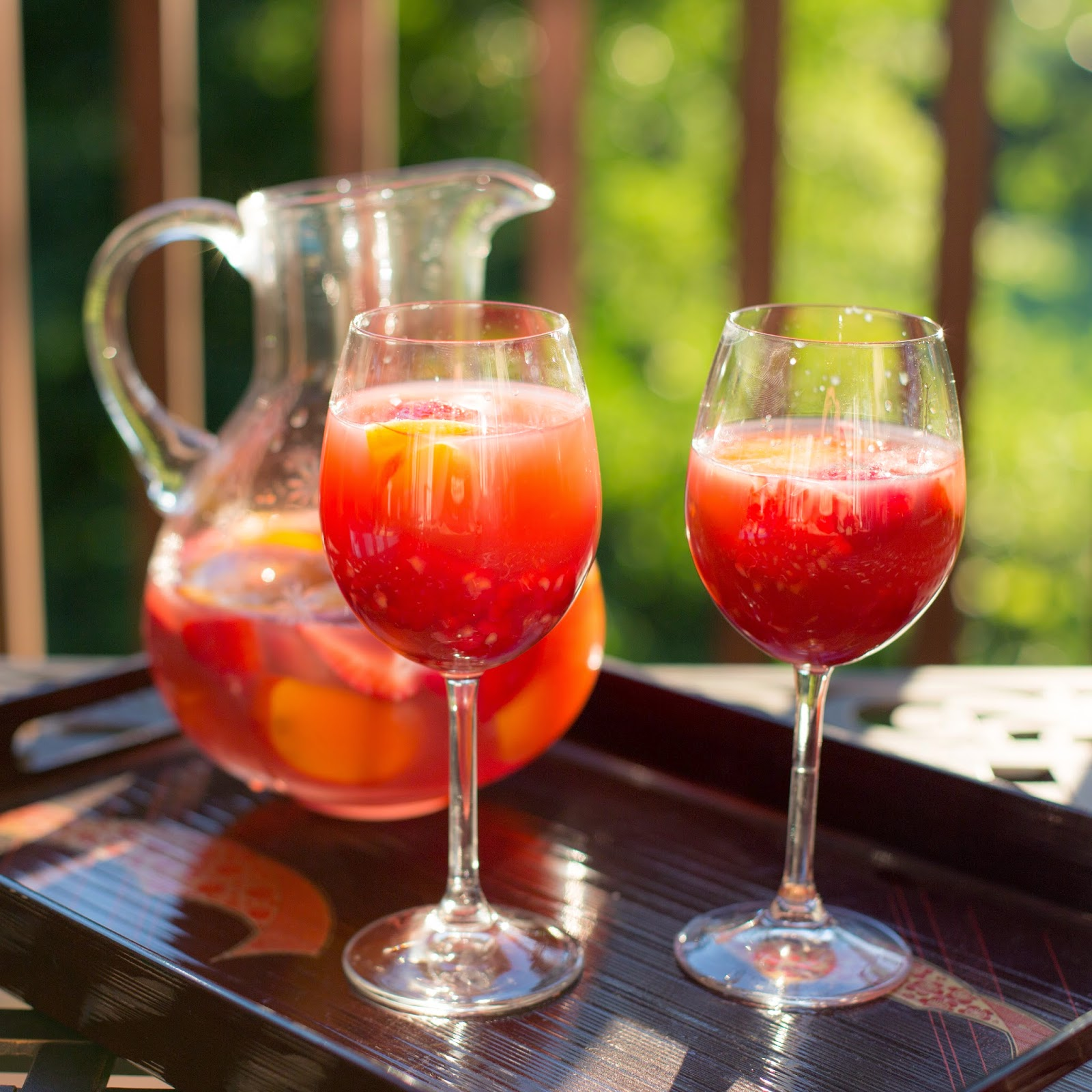 Straight to the Hips, Baby: Rosé Sangria with Summer Fruit