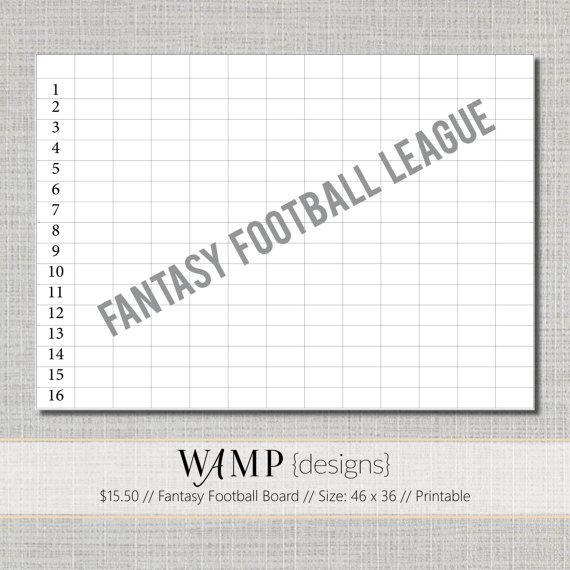 Printable Fantasy Football Boards
