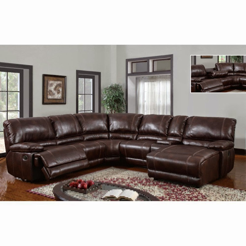 Leather Reclining Sectional Sofa with Chaise  sc 1 st  Office Furniture : sectional sofas atlanta - Sectionals, Sofas & Couches