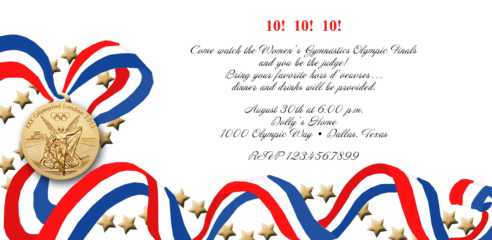 Paper Perfection Olympic Party Invitation and Printables