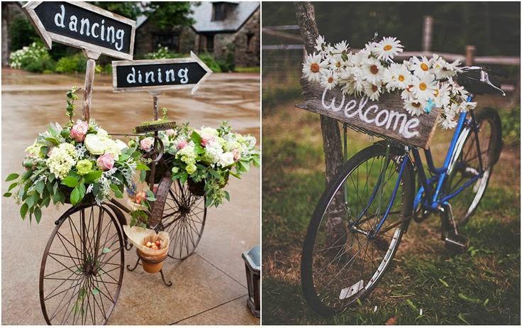 Pon una bicicleta vintage en la decoraci n de tu boda for Decoracion vintage boda