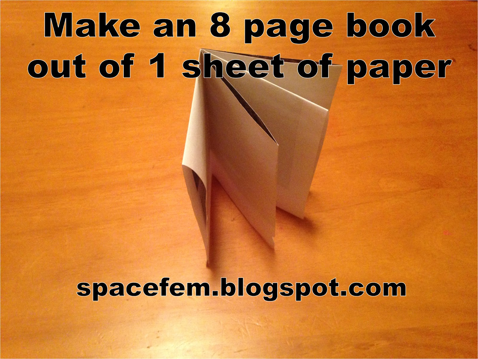 how to make a 8 page book out of paper