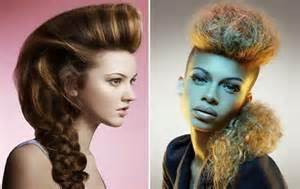 model rambut wanita kepang mohawk