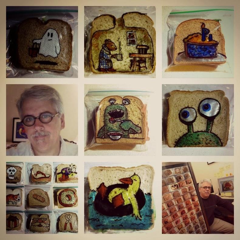 David Laferriere bolsas almuerzo decoradas